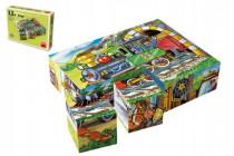Kostky kubus Mašinka dřevo