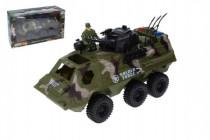 Auto vojenské obrněný transportér s doplňky plast 30cm volný chod