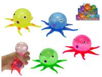 Míček strečový chobotnice 15 cm - mix barev