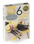 Svíčka čajová - aroma vanilka - 6 ks