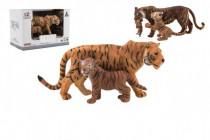 Zvířátka safari ZOO 13cm sada plast 2ks tygr 2 druhy