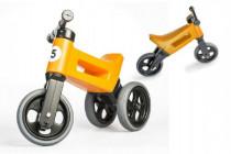 Odrážedlo oranžové FUNNY WHEELS NEW SPORT 2v1 výška sedadla nastavitelná 28/31cm nosnost 50kg 18m+