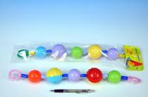Barevné koule - zábrana na kočárek - mix variant či barev