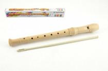 Flétna přírodní dřevo 31cm s čistítkem