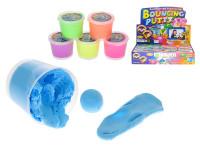 Hopík/skákající hmota 35 g v kelímku - 12 ks - mix barev