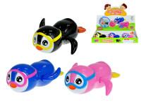 Tučňák s brýlemi 13 cm plavací ve vodě na klíček - mix barev