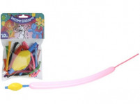 balónky PÁRTY tvarovací (10ks) s pumpičkou - mix barev