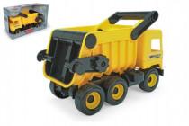 Auto middle Truck sklápěč plast 38cm žlutý v krabici Wader