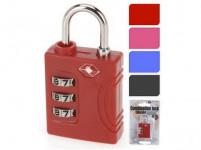 zámek visací TSA 35x15x10mm cestovní - mix barev