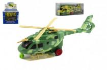 Vrtulník/Helikoptéra plast 25cm na baterie se světlem se zvukem - mix barev