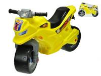Motorka odrážedlo žluté 68x48x29 cm max. 30 kg