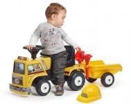 Odstrkovadlo Práce na silnici s volantem, valníkem, hrabička