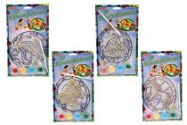 Sluneční dekorace 3D nové motivy na kartě 17x19cm - mix variant či barev