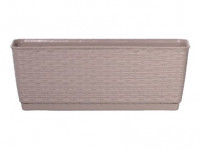 truhlík RATOLLA P 38,6x15,4x14cm BÉŽ tm. (7529U) s miskou