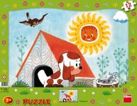 Puzzle 12 dílků tvary štěňátko