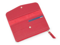 Moderní dámská peněženka s kapsou na drobné, eko kůže, červená