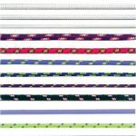 šňůra PES s duší 4mm barevná pletená (200m)