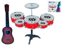 Sada bubnů větší s kytarou 42 cm - mix barev