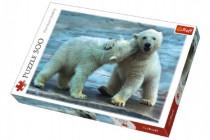 Puzzle Polární Medvědi 500 dílků 48x34cm