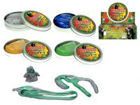 Chytrá hmota dinosaurus v plechovce - mix barev