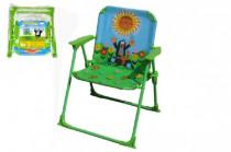 Židlička/Židle Krtek polyester/kov 50cm