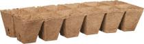 Rašelinový kontejner 6x6 cm - plato 12ks