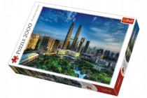 Puzzle Petronas Twin Towers, Kuala Lumpur Malajsie 2000 dílků 96x68cm