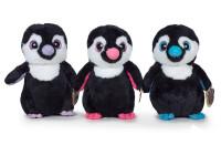 Tučňák plyšový 28 cm stojící velké oči - mix barev