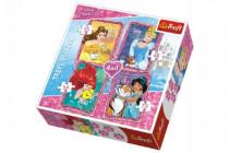 Puzzle 4v1 Princezny Disney