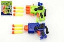 Pistole na pěnové náboje plast 14cm - mix barev