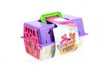 Přenosný box + zvířátko gumové plast - mix variant či barev