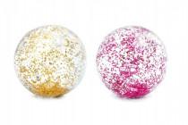 Míč plážový glitter transparentní průměr 71cm - mix barev