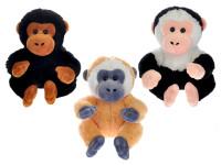 Opice plyšová 16 cm sedící - mix barev