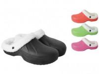 pantofle gumové zimní dámské vel. 39 (pár) - mix barev