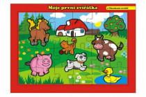 Puzzle deskové Moje první zvířátka farma 26x17cm 24 dílků MPZ