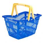 košík nákupní, 2 držadla 38,5x28x25cm plastový, nosn.10kg - mix barev