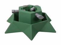 Stojan pod vánoční stromek STAR zelený v13cm d40cm - VÝPRODEJ