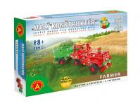 Farmar traktor s přívěsem-malý konstruktér
