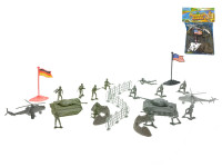 Sada vojáci s mapou plast 2 vojska
