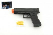 Pistole se zásobníkem na kuličky 17cm plast + kuličky