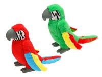 Papoušek plyšový 31 cm - mix barev