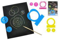 Magické papírky 5 ks 27,5x18,5 cm s kreslícími doplňky - mix barev