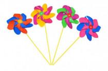 Větrník průměr 20cm barevný plast 52cm - mix barev