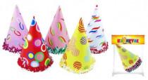 Klobouk party papírový 22x15cm 6ks v sáčku karneval - mix barev