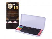 Pastelky Exclusive art v plechové krabičce 10 ks