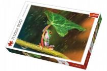 Puzzle Žába s listem 500 dílků 48x34cm