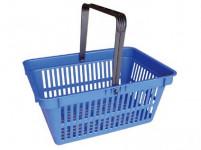 košík nákupní, 1 držadlo 44,5x30x21,5cm plastový, nosn.15kg - mix barev