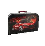 Kufřík závodní auto černo/červený 35 cm
