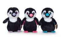 Tučňák plyšový 22 cm stojící velké oči - mix barev