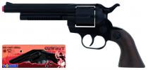 Kovbojský revolver kovový černý 12 ran